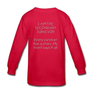 Mommy Survived Cancer - Kids' Long Sleeve T-Shirt