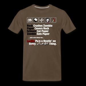 Rock, Paper, Scissors, Zombie, Lucille - Men's Premium T-Shirt