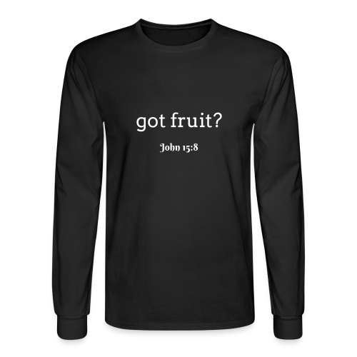 Men's got fruit? John 15:8 white print - Men's Long Sleeve T-Shirt