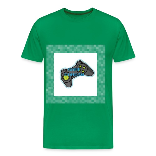 Game Domain Logo Tee - Green - Men's Premium T-Shirt