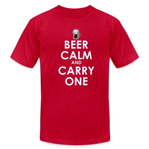Beer Calm and Carry One! - Men's Fine Jersey T-Shirt
