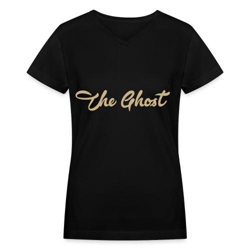 Womens V-Neck The Ghost (T-Shirt) - Women's V-Neck T-Shirt