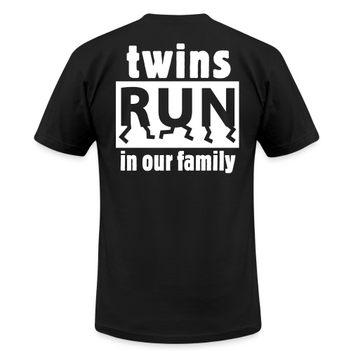 TWINS RUN IN OUR FAMILY - Men's Fine Jersey T-Shirt