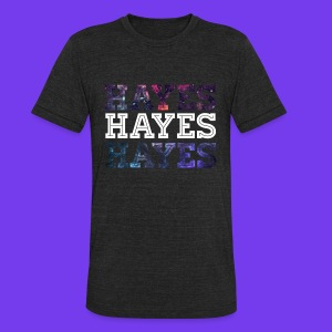 Galaxy Print Hayes Graphic T-Shirt. - Unisex Tri-Blend T-Shirt