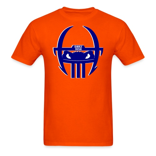 Gator Football Helmet - Orange & Blue - Men's T-Shirt