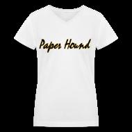 T-Shirts ~ Women's V-Neck T-Shirt ~ PH Scripted V-Neck T-Shirt