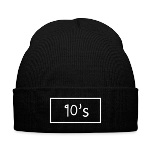 Bonnet 90's - Knit Cap with Cuff Print