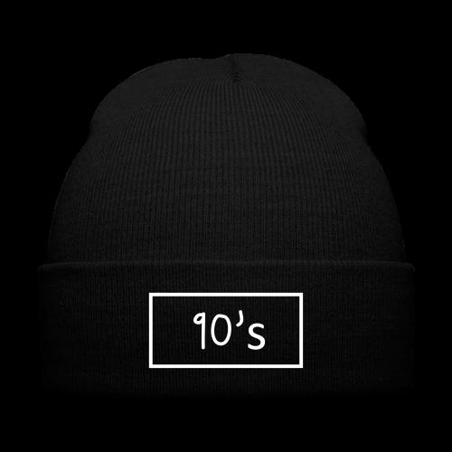 Bonnet 90's - Knit Cap with Cuff Print