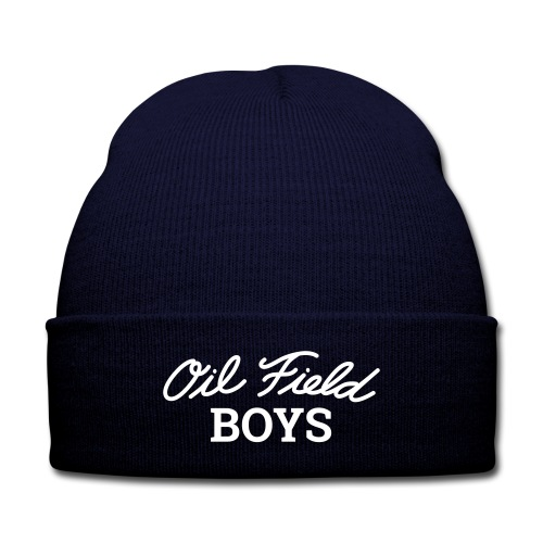 Oil Field Boys Knit Cap - Knit Cap with Cuff Print