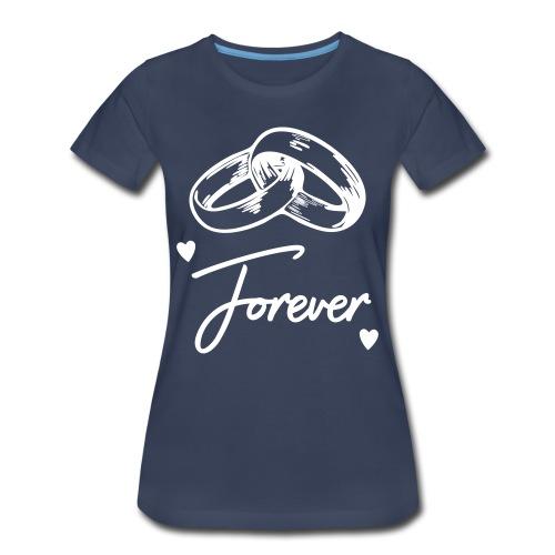 Women's Premium T-Shirt - White font will not show on white shirt.