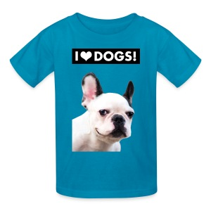 I HEART DOGS! Smiling Dog. Kids' T-Shirt - Kids' T-Shirt
