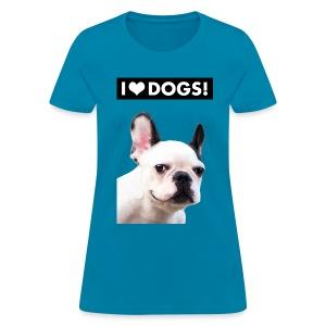 I HEART DOGS! Smiling Dog. Women's T-Shirt - Women's T-Shirt