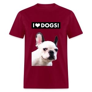 I HEART DOGS! Smiling Dog. Men's T-Shirt - Men's T-Shirt