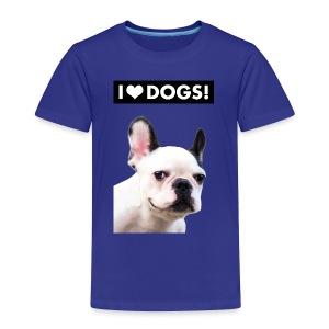 I HEART DOGS! Smiling Dog. Toddler Premium T-Shirt - Toddler Premium T-Shirt