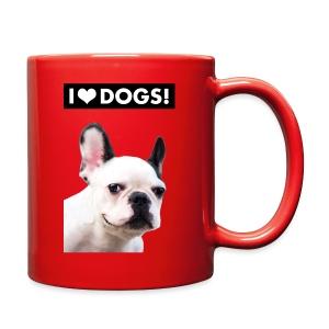 I HEART DOGS! Smiling Dog. Mug - Full Color Mug