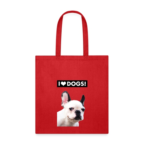 I HEART DOGS! Smiling Dog. Tote Bag - Tote Bag