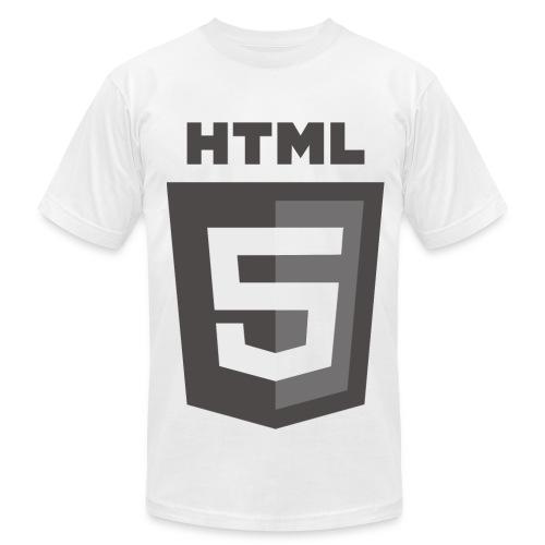 HTML 5 Black & White - Men's Fine Jersey T-Shirt