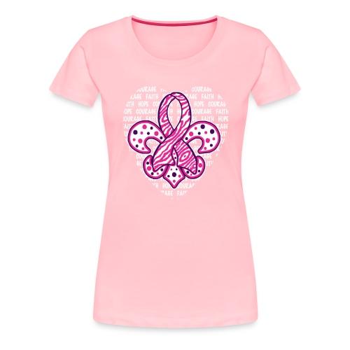 Womens Premium T-Shirt - Faith, Hope, Courage (front purple design) - Women's Premium T-Shirt