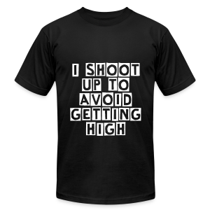I Shoot Up to Avoid Getting High - White - Men's T-Shirt by American Apparel