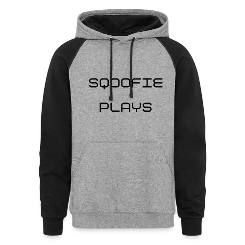 Sqoofie Plays Baby Size T-Shirt - Colorblock Hoodie