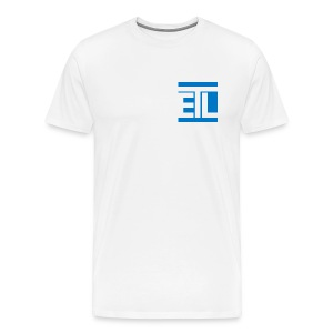 ETL Initial with Widescreen Back Logo - Men's Premium T-Shirt