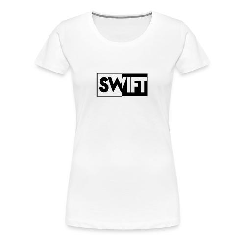 Women's White Swift Contrasting Shirt - Women's Premium T-Shirt