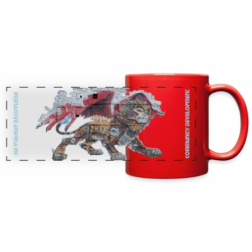 Interactive America, Red Mug - Detroit Lion - Full Color Panoramic Mug