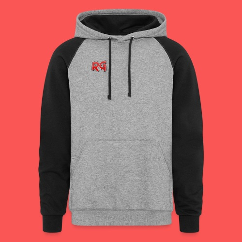 Rizzy Gaming Gray and Red Sweater - Colorblock Hoodie