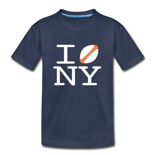 I rugbyball NY - TODDLER w/ printed back - Toddler Premium T-Shirt