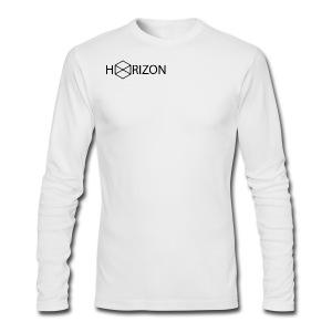 Horizon Original Shoulder Logo T-shirt [BLACK TEXT] - Men's Long Sleeve T-Shirt by Next Level