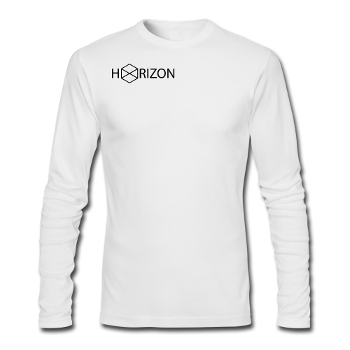 Horizon Original Shoulder Logo T-shirt [BLACK TEXT] - Men's Long Sleeve T-Shirt by Next Level