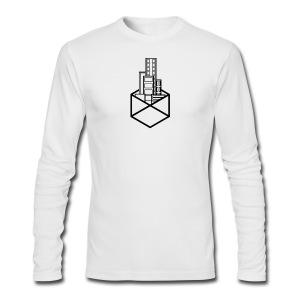 Horizon Original City-Scape T-shirt [BLACK LOGO] - Men's Long Sleeve T-Shirt by Next Level
