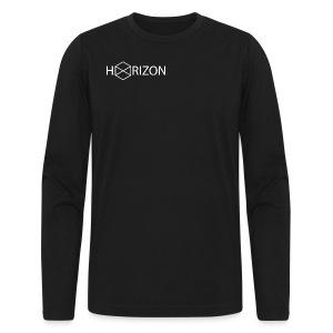 Horizon Original Shoulder Logo T-shirt [WHITE TEXT] - Men's Long Sleeve T-Shirt by Next Level
