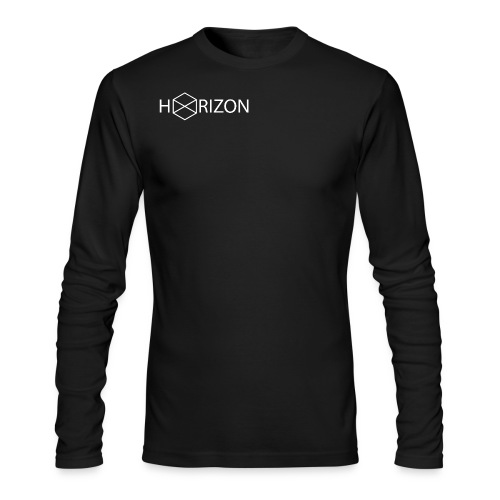 Horizon Original Shoulder Logo T-shirt [WHITE TEXT] - Men's Long Sleeve T-Shirt by Next Level