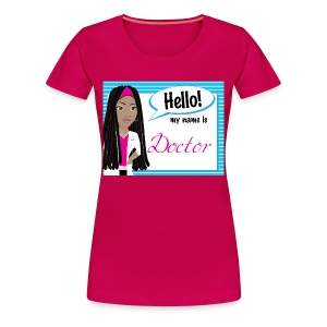 HelloDreadlocks Striped - Women's Premium T-Shirt