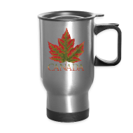 Mugs & Drinkware ~ Travel Mug ~ Canada Cup Beautiful Autumn Maple Leaf Souvenir Mugs