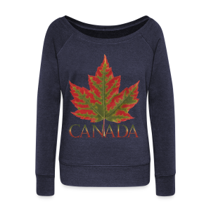 Canada Souvenir Shirts Women's Maple Leaf Sweatshirts - Women's Wideneck Sweatshirt