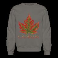 Long Sleeve Shirts ~ Crewneck Sweatshirt ~ Canada Souvenir Shirts Men's Maple Leaf Sweatshirts