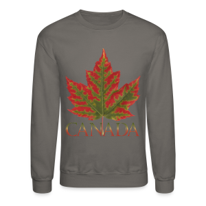 Canada Souvenir Shirts Men's Maple Leaf Sweatshirts - Crewneck Sweatshirt