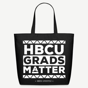 HBCU Grads Matter - Black and Ivory Cotton Tote - Eco-Friendly Cotton Tote