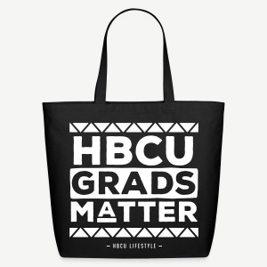 HBCU Grads Matter - Black and Ivory Cotton Tote - Eco-Friendly Cotton Tote