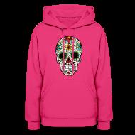 Hoodies ~ Women's Hoodie ~ Sugar Skull - Day of the Dead #4