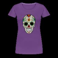 T-Shirts ~ Women's Premium T-Shirt ~ Sugar Skull - Day of the Dead #4