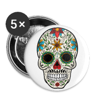 Buttons ~ Small Buttons ~ Sugar Skull - Day of the Dead #4