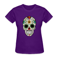 T-Shirts ~ Women's T-Shirt ~ Sugar Skull - Day of the Dead #4