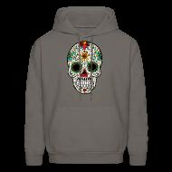 Hoodies ~ Men's Hoodie ~ Sugar Skull - Day of the Dead #4