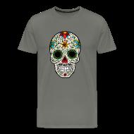T-Shirts ~ Men's Premium T-Shirt ~ Sugar Skull - Day of the Dead #4