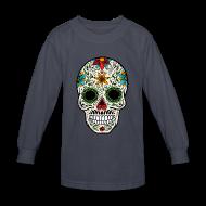 Kids' Shirts ~ Kids' Long Sleeve T-Shirt ~ Sugar Skull - Day of the Dead #4