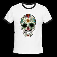 T-Shirts ~ Men's Ringer T-Shirt ~ Sugar Skull - Day of the Dead #4