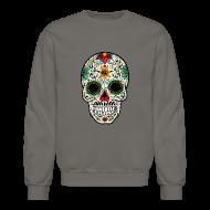 Long Sleeve Shirts ~ Crewneck Sweatshirt ~ Sugar Skull - Day of the Dead #4